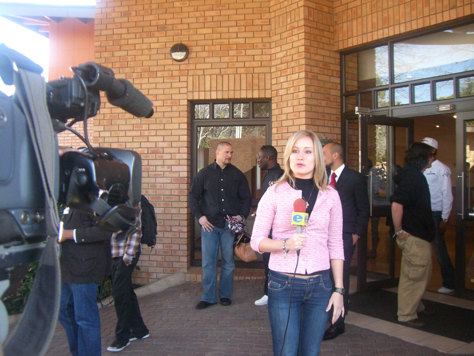 Christina Paschyn reporting for E News in Johannesburg.