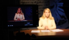 Christina Paschyn anchoring for an Azimuth Media production