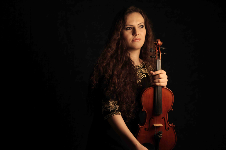Lorena Manescu, first violin of the Qatar Philharmonic Orchestra