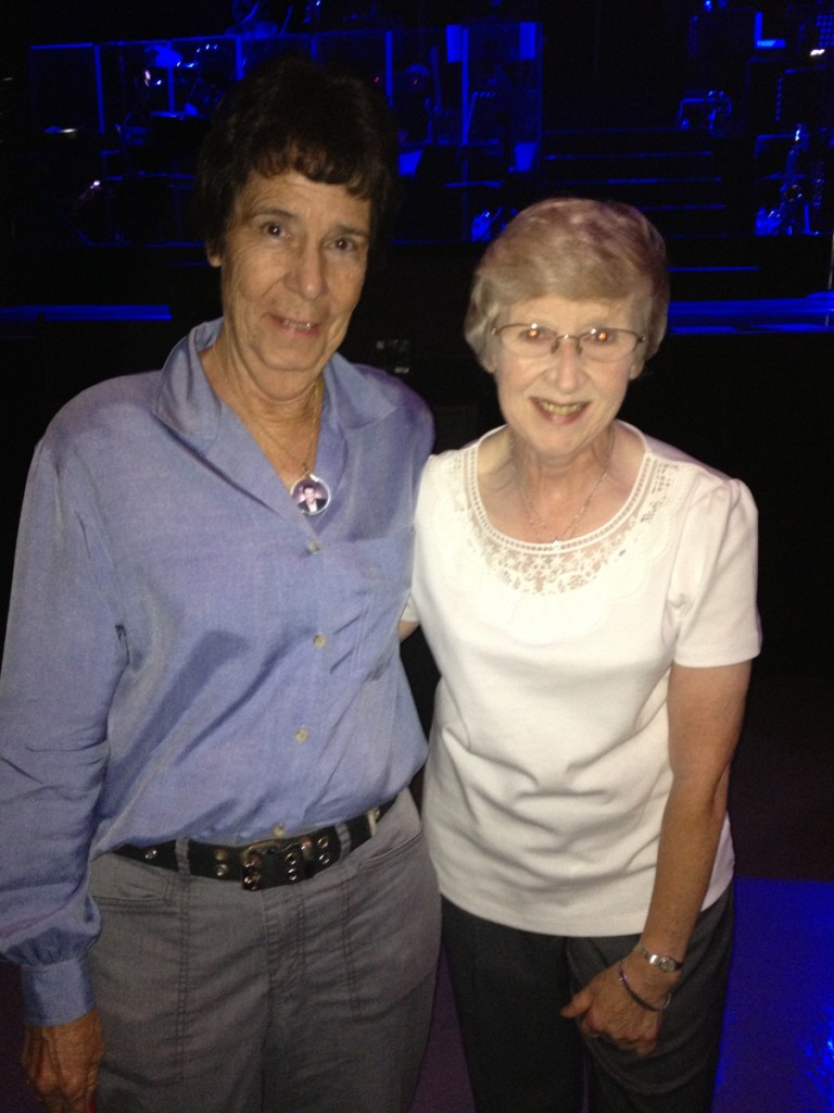 Devoted fans Barbara Voight and Joan Johnson at the concert.